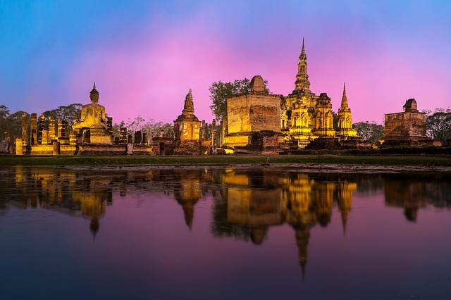Une journée dans les temples de Ayutthaya (Thailande) à vélo